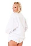 Woman in white panties Stock Photos