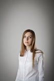 Woman in white. Stock Photo