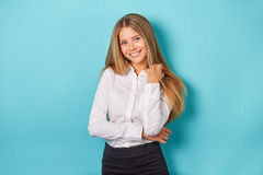 Woman in white shirt Royalty Free Stock Photo