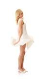 Woman in white skirt Royalty Free Stock Photos