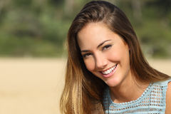 Woman with a white teeth smiling Stock Image