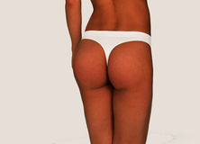 Woman in White Thong Underwear in Rear View Royalty Free Stock Photo