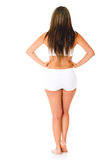 Woman in white underwear Stock Photography