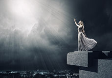 Woman in white Stock Photography