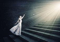 Woman in white Royalty Free Stock Photography