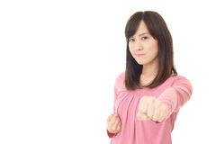 Woman who are angry Stock Photos