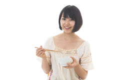 Woman who eats Stock Photos