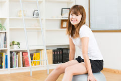 The woman who exercise Royalty Free Stock Photo
