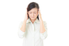 Woman who has a headache Royalty Free Stock Images