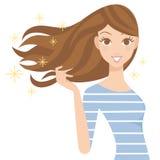 Woman who has a long hair Royalty Free Stock Image