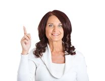 Woman who just came up with idea Royalty Free Stock Photography