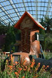 The woman who lived in a shoe. At gardens by the bay Singapore Royalty Free Stock Images