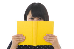 Woman who reads a book Royalty Free Stock Photo