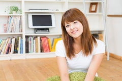 Woman who is relaxed Royalty Free Stock Photo