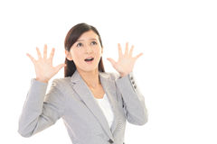 Woman who are surprised Stock Photos