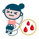 Woman who was bleeding hemorrhoids Stock Photography