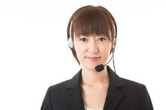 Operator. The woman who works as an operator Stock Image