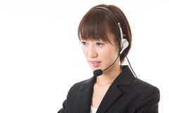 Operator. The woman who works as an operator Stock Images