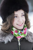 Woman with a wide beautiful smile Stock Photo