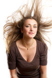 Woman With Wind in her Hair Stock Photos
