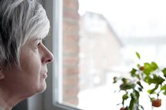 Woman at the Window Royalty Free Stock Photo