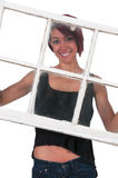 Woman In Window Royalty Free Stock Images