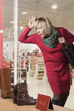Woman Window Shopper Stock Photos