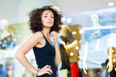 Woman window shopping Stock Photo