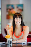 Woman with Wine royalty free stock images