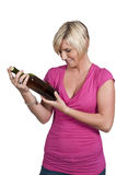 Woman with Wine Stock Photos