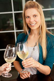 Woman wine Royalty Free Stock Photos