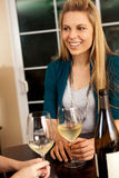 Woman wine Royalty Free Stock Image