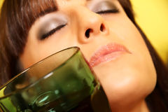 Woman with a wine glass Royalty Free Stock Photos