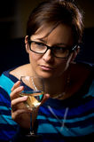 Woman with wine glass Stock Photography