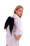Woman with wings Stock Images