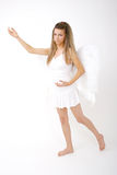 Woman with wings (full-body) Stock Image