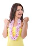 Woman winner gesturing Stock Images