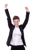 Woman winning Stock Image