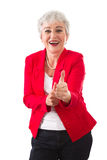 Woman in winning mood - Stock Photo Stock Photo