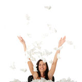 Woman winning with sickness Royalty Free Stock Photography