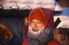 woman in winter royalty free stock photography