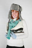 Woman winter Stock Image
