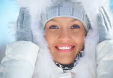 Woman in winter Stock Photos