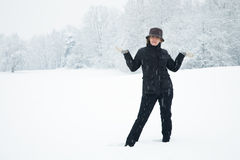 Woman in winter Stock Photo