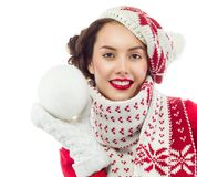 Woman winter stock images