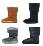 Woman winter boots Royalty Free Stock Photo