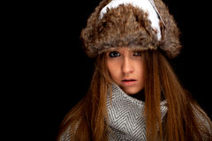 Woman in winter clothes Stock Image