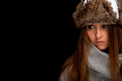 Woman in winter clothes Stock Photo