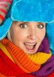 Woman in winter clothes Stock Photos