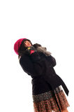 Woman in winter clothes Royalty Free Stock Photo